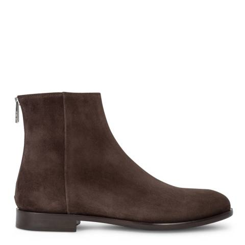 PAUL SMITH Chocolate Jean Suede Ankle Boot
