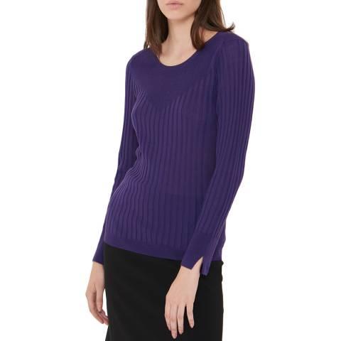 Gerard Darel Purple Wool Blend Clara Jumper
