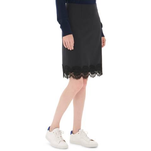 Gerard Darel Black Wool Blend Johanna Skirt