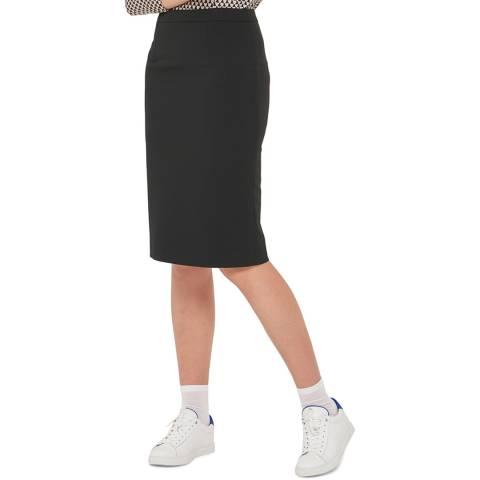 Gerard Darel Black Wool Blend Jane Skirt