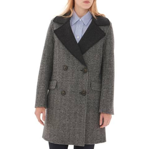 Gerard Darel Grey Wool Megan Coat