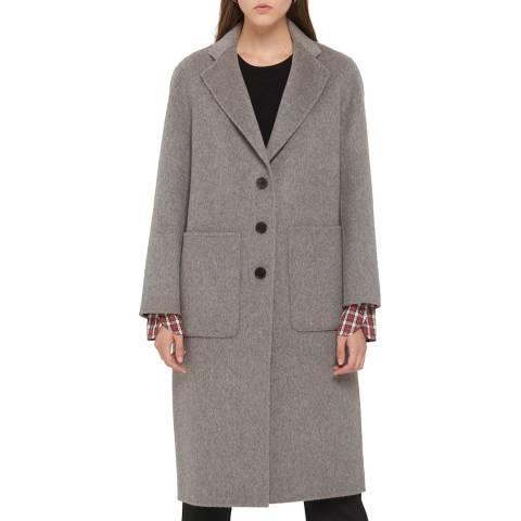 Gerard Darel Grey Wool Blend Magnolia Coat