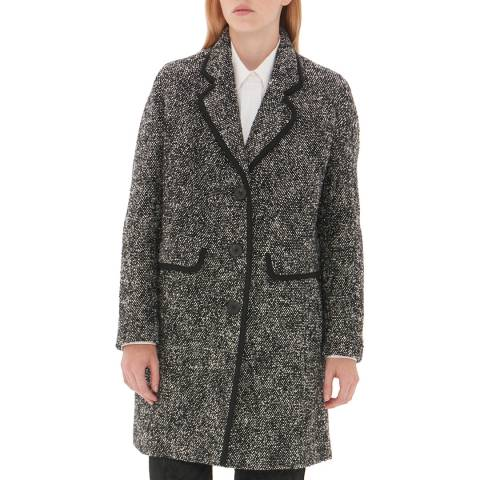 Gerard Darel Grey Wool Blend Mercy Coat