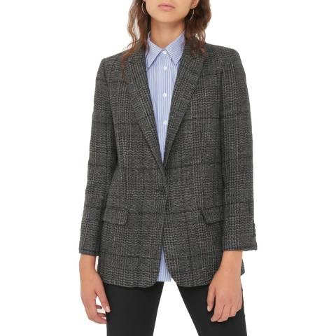Gerard Darel Grey Sophie Wool/Linen Blend Jacket