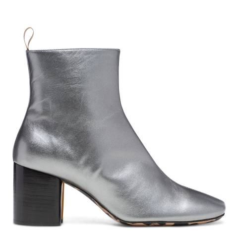 PAUL SMITH Silver Moss Leather Boot