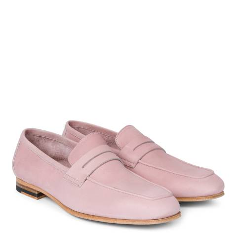 PAUL SMITH Powder Pink Glynn Leather Shoe