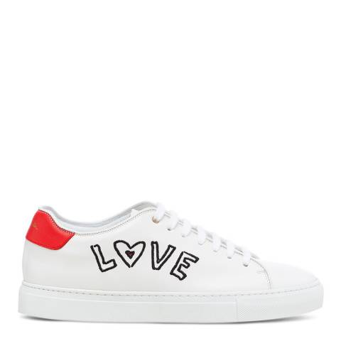 PAUL SMITH White Love Basso Leather Sneaker
