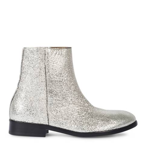 PAUL SMITH Silver Brooklyn Leather Boot