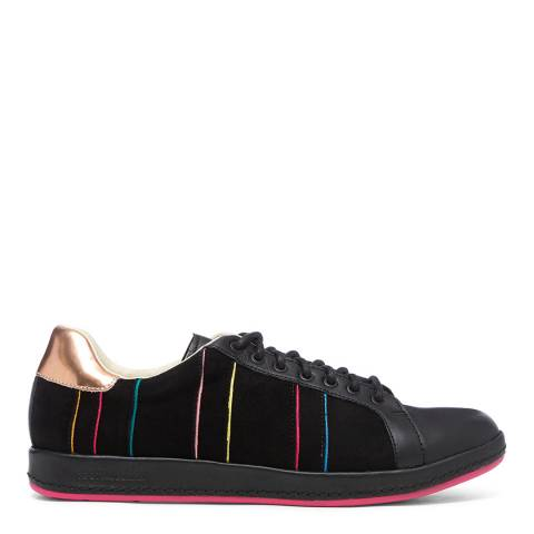 PAUL SMITH Black Lapin Leather Sneaker
