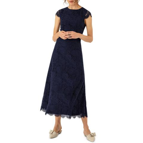 Ivy & Oak Blue Lace Ankle Length Dress