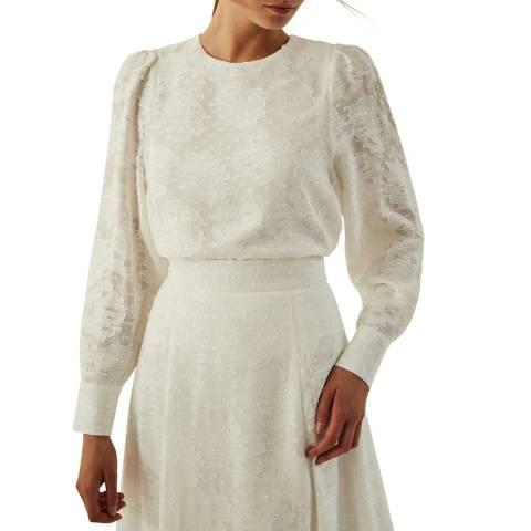 Ivy & Oak White Fil Coupa Blouse