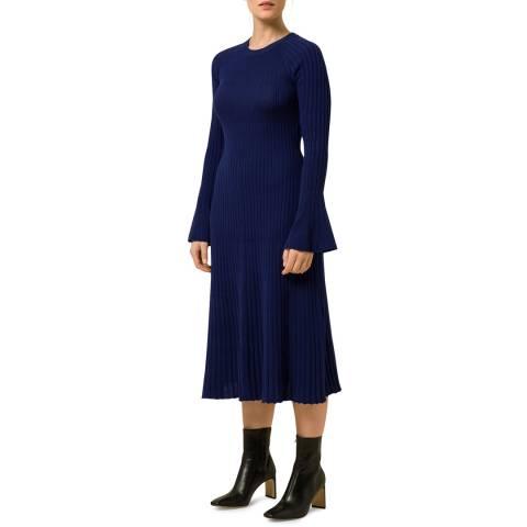 Ivy & Oak Blue Ajour Midi Knit Dress