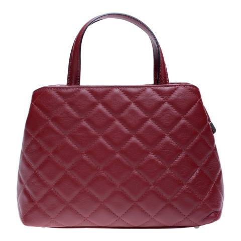 Roberta M Red Leather Top Handle Bag
