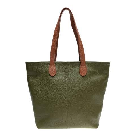 Luisa Vannini Green Leather Shoulder Bag
