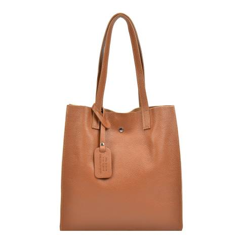 Isabella Rhea Cognac Leather Shoulder Bag