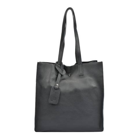 Isabella Rhea Black Leather Shoulder Bag