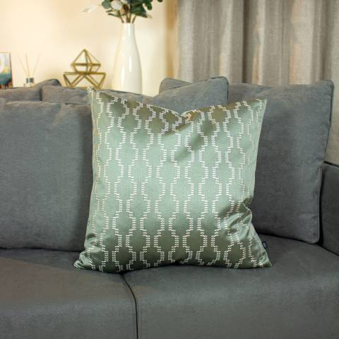 Ashley Wilde Nash Cushion, Sage/Eau De Nil