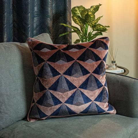 Paoletti Leveque 50x50cm Cushion, Blush/Navy