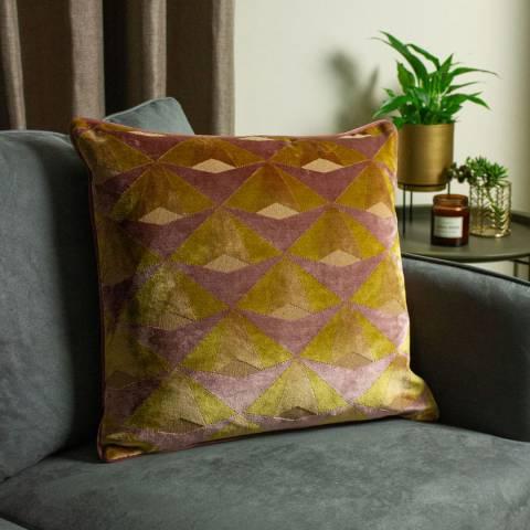 Paoletti Leveque 50x50cm Cushion, Ochre/Blush