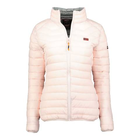 Geographical Norway Pink Quilted Parka Without Hood