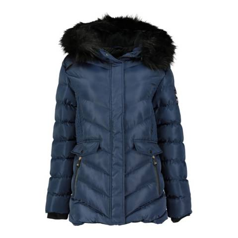 Geographical Norway Navy Augustine Short Hooded Parka