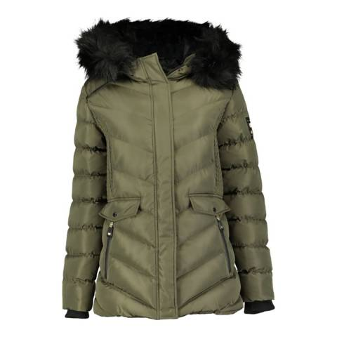 Geographical Norway Khaki Augustine Short Hooded Parka