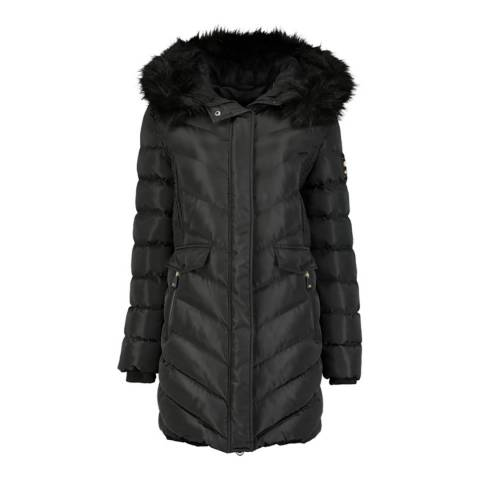 Geographical Norway Black Hooded Parka