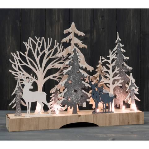 The Satchville Gift Company Light up woodland scene