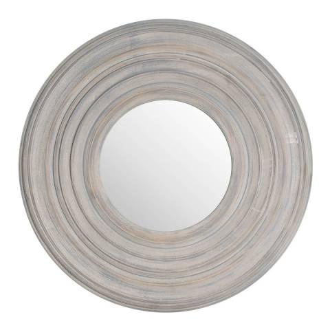 Hill Interiors Grey Painted Round Textured Mirror