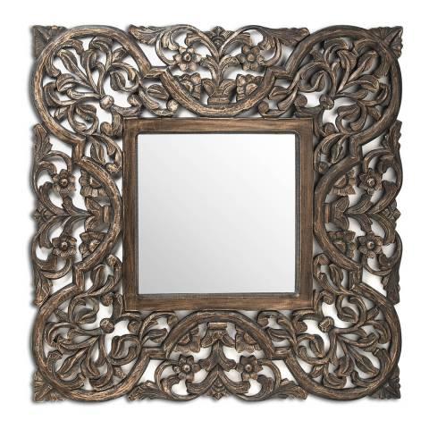 Hill Interiors Dakato Grey Wash Carved Mirror