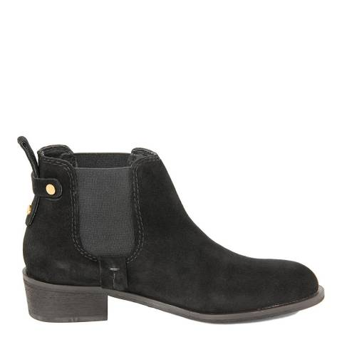 Eye Black Suede Calf Ankle Boots