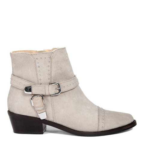 Eye Cream Leather Ankle Boots