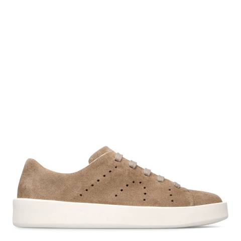 Camper Beige Courb Suede Sneakers