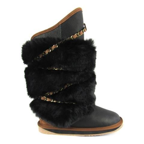 Australia Luxe Collective Black Crow Wax Atilla High Calf Boot
