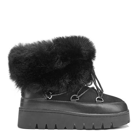 Australia Luxe Collective Black Casper Sturdy Wedge Boots