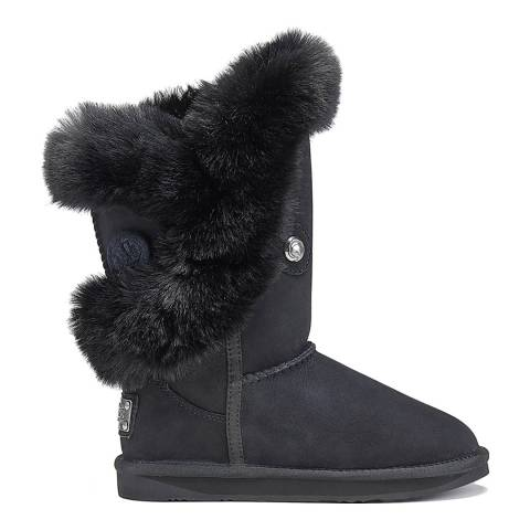 Australia Luxe Collective Black Nordic Luxe Faux Fur Short Boot