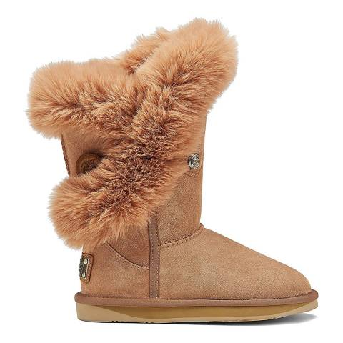 Australia Luxe Collective Chestnut Nordic Luxe Faux Fur Short Boot