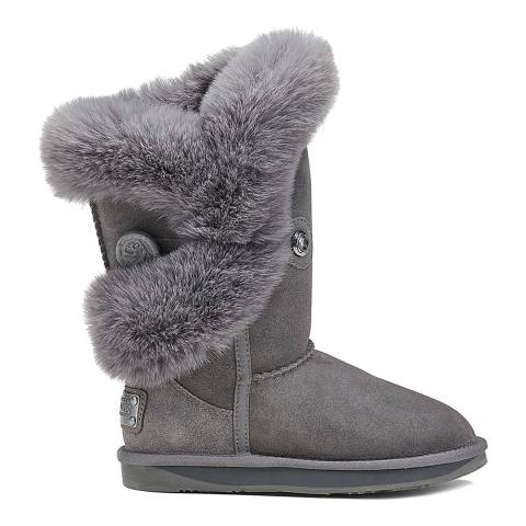 Australia Luxe Collective Grey Nordic Luxe Faux Fur Short Boot