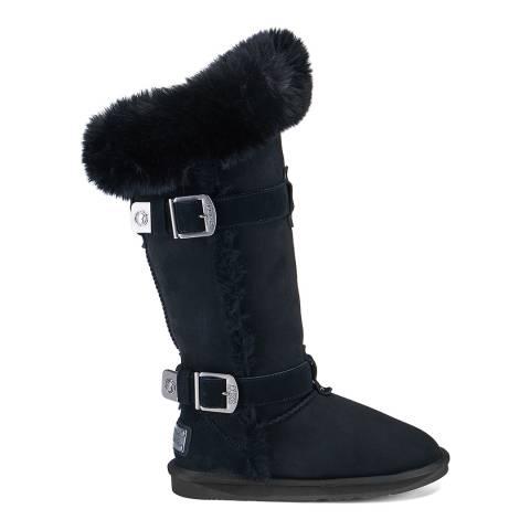 Australia Luxe Collective Black Tsar Tall Luxe Faux Fur Boot