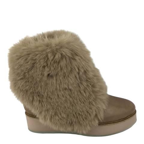 Australia Luxe Collective Brown Bundaburg Faux Fur Booties