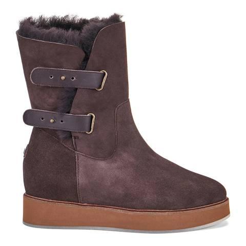 Australia Luxe Collective Dark Brown Beva Bushmill Sheepskin Ankle Boots