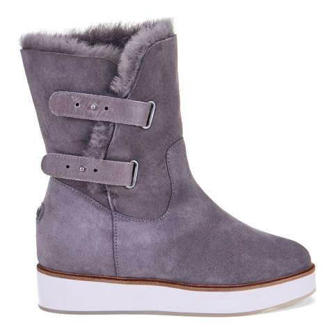 Australia Luxe Collective Grey Bushmill Sheepskin Ankle Boots
