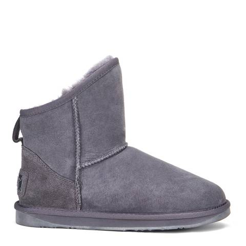 Australia Luxe Collective Grey Cosy X Short Ankle Boots