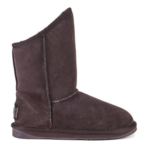 Australia Luxe Collective Dark Brown Beva Cosy Short Ankle Boots