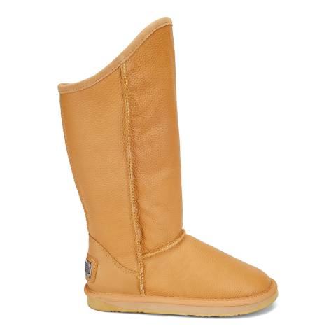 Australia Luxe Collective Tan Saddle Whisky Wax Cosy Tall Boots