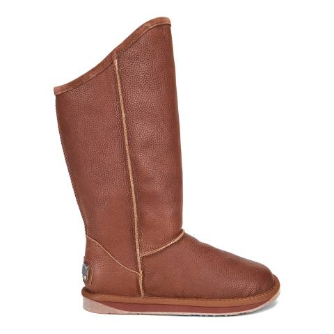 Australia Luxe Collective Brown Whisky Wax Cosy Tall Boots