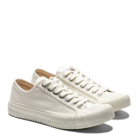 Excelsior All White Canvas Low Top Sneakers