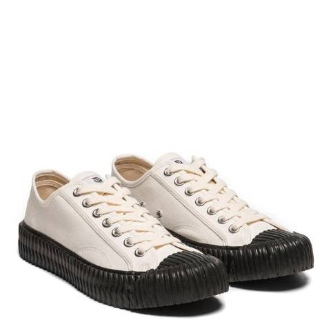 Excelsior Canvas White with Black Sole Low Sneakers