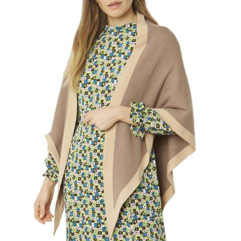 JayLey Collection Brown Cashmere Blend Scarf