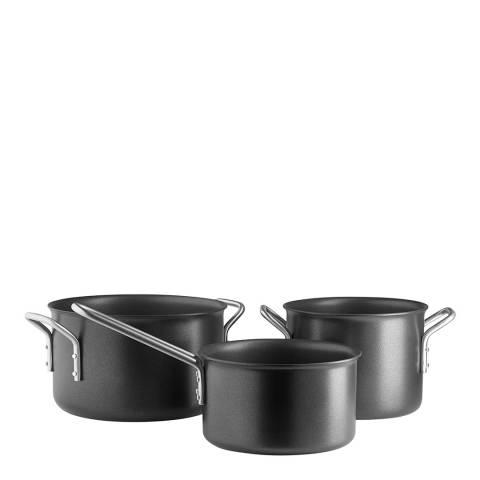 Eva Solo 3 Piece Black Line Promo Pan Set